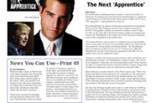 Print Executive Presses To Become The Next 'Apprentice'